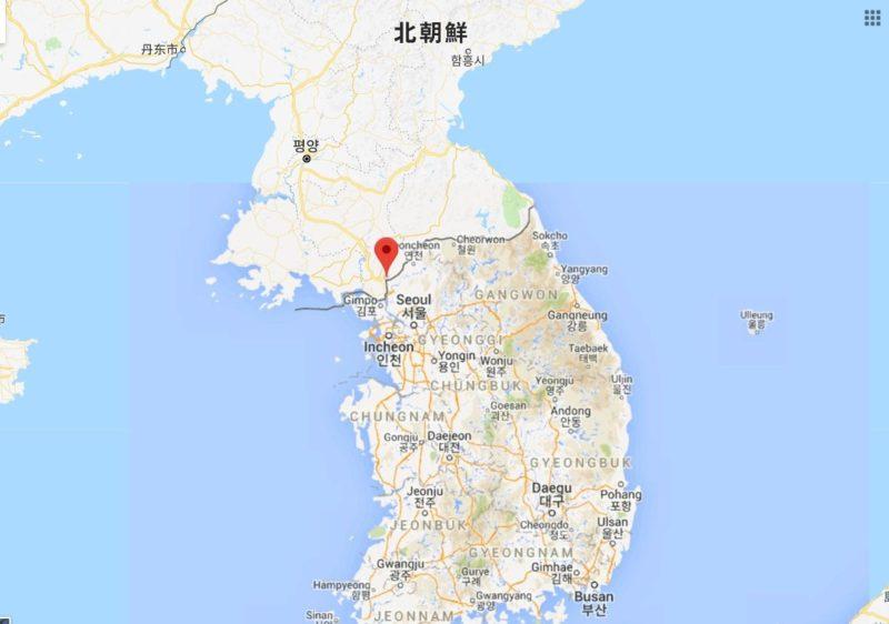 板門店・平和の家の地図と位置