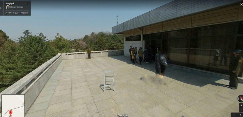 板門店の北朝鮮側、統一閣