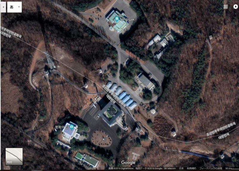 板門店の地図・航空写真