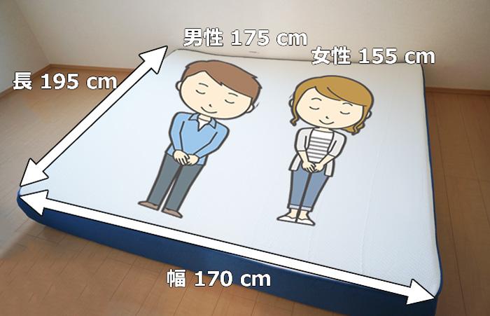 コアラマットレスのクイーンサイズのイメージ