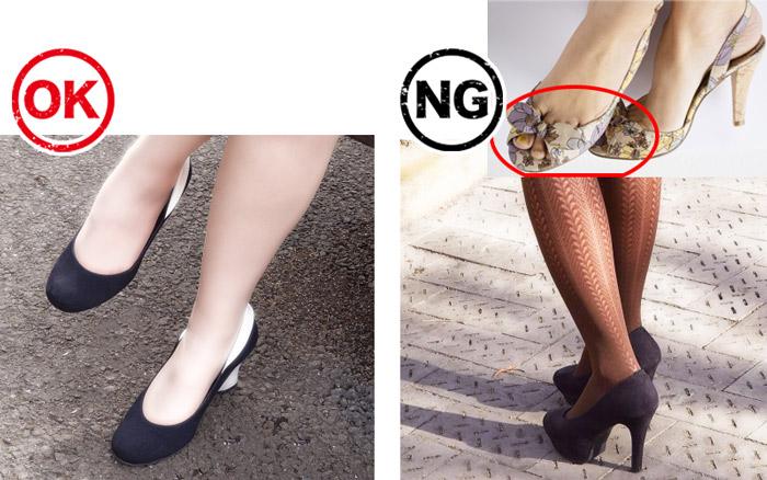 結婚式の二次会お呼ばれ女性服装の靴とストッキングの注意点
