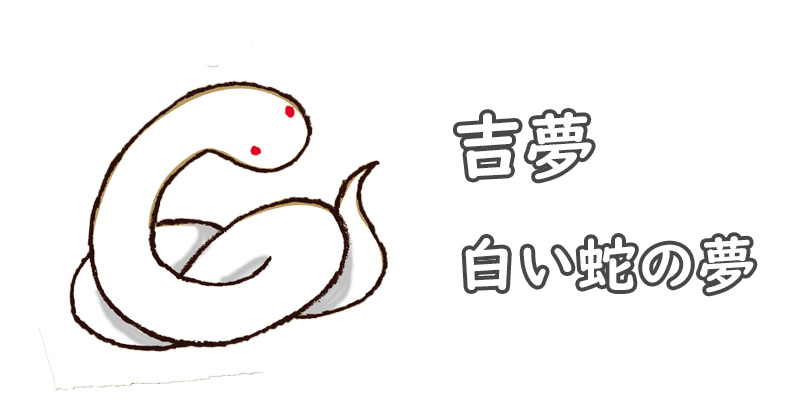 【夢占い】吉夢の白い蛇の夢と夢分析