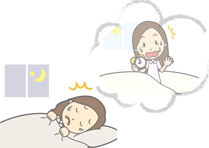 寝坊して遅刻をする夢 ・夢占いによる意味