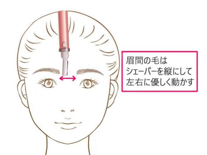 眉間の剃り方