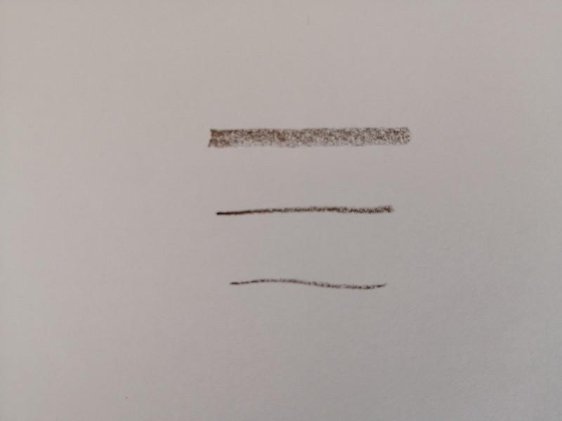 眉毛を整える道具 100均 アルミアイブローペンシル 書き味 サンプル